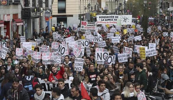 La protesta estudiantil contra la Lomce pierde fuerza en la calle