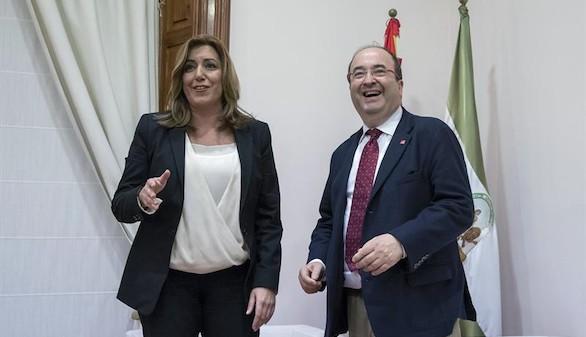 Iceta y Susana Díaz tratan de suturar el descosido socialista