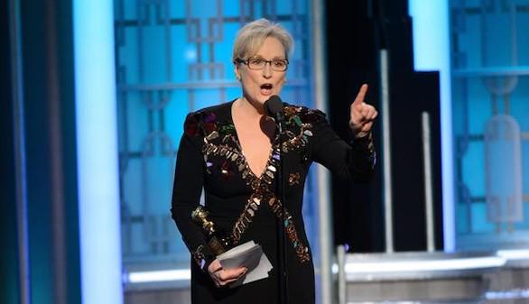 Así sacudió Meryl Streep a Trump en los Globos de Oro