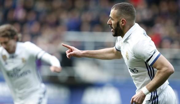 El Real Madrid y Benzema resucitan el compromiso para golear al Eibar | 1-4