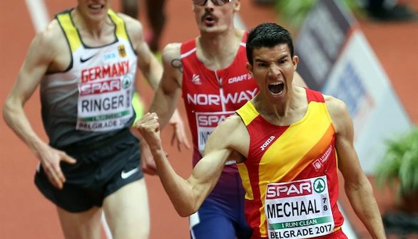 Europeo de atletismo. Oro de Mechaal, plata de Ureña y bronce de De Arriba para la cosecha española