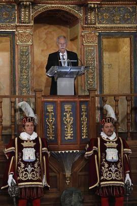 Eduardo Mendoza durante su discurso en la entrega del Premio Cervantes