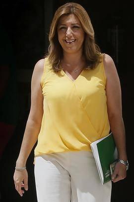 Susana Díaz este jueves en Sevilla