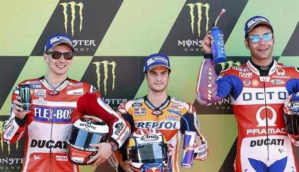 GP de Cataluña. Pedrosa, Márquez y Martín firman el triplete de poles