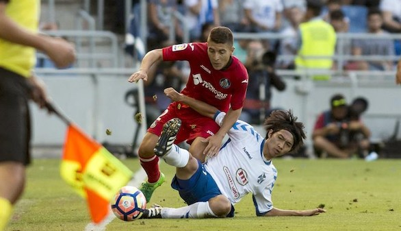 Ascenso a Primera. El Tenerife golpea al Getafe con las armas en alto   1-0