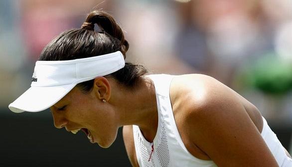 Wimbledon. Muguruza remonta a la número uno y llega a cuartos   6-4, 4-6 y 4-6