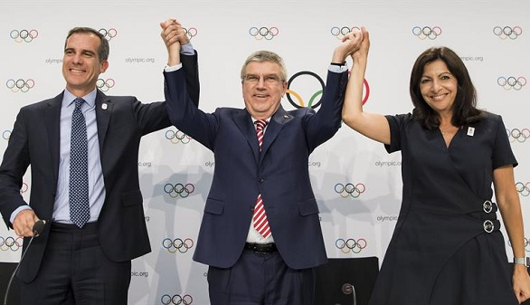 El COI elige a París y Los Ángeles como sedes de los JJ.OO. y