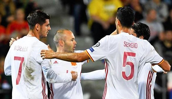 España se gusta y arrolla a Liechtenstein para aterrizar en Rusia   0-8