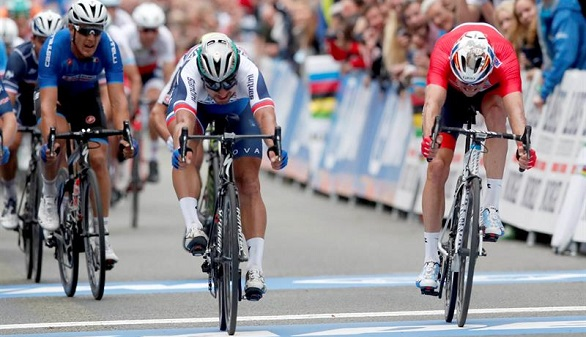 Mundial de ciclismo. Sagan hace historia con su tercer oro seguido