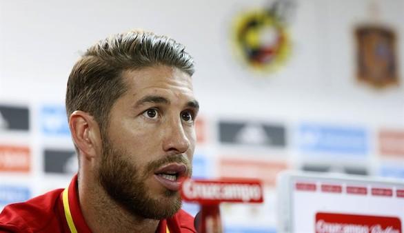 Sergio Ramos, en sala de prensa con España:
