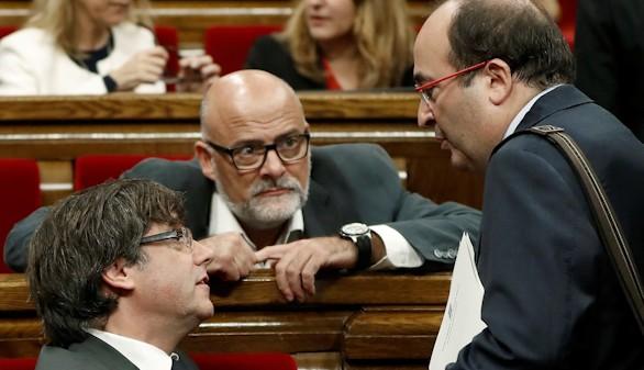 Iceta se ofrece para acompañar a Puigdemont al Senado