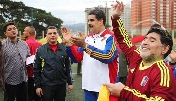Diego Armando Maradona, en Venezuela, se proclama soldado de Maduro