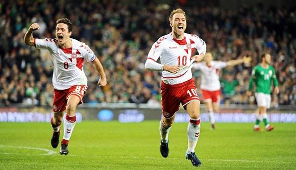 Rusia 2018. La Dinamarca de Eriksen arrasa a Irlanda y entra en el Mundial | 1-5