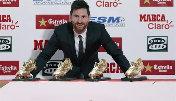Messi consigue su cuarta Bota de Oro sin aclarar su futuro en el Barça