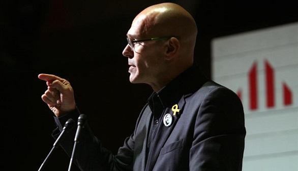 El exconsejero y número tres en la lista por Barcelona en las elecciones del 21D, Raül Romeva.