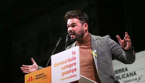 Rufián: Podemos ha propuesto a ERC un tripartito con PSC