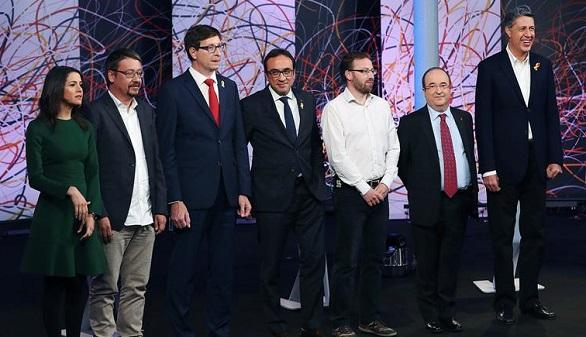 Los pactos centran el último debate de los candidatos al 21D