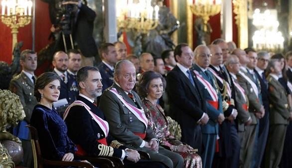 Don Juan Carlos, protagonista de la Pascua Militar