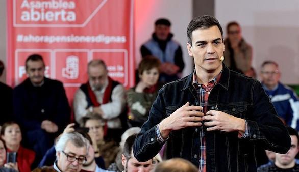 Pedro Sánchez se erige en el único y verdadero defensor de los pensionistas