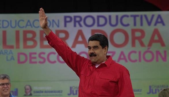 El presidente venezolano, Nicolás Maduro, mientras participaba en un acto de gobierno, el pasado miércoles 17 de enero del 2018.