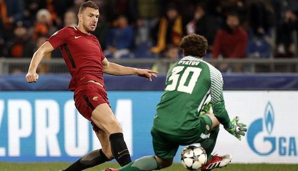 Dzeko rescata a la Roma para los cuartos ante el Shakhtar   1-0
