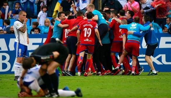 El Numancia elimina al Zaragoza en el descuento y llega a la final por el ascenso a Primera | 1-2