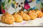 Fotografía facilitada por el restaurante Elektra (Madrid) de sus croquetas de La Peral azul con compota de manzana.