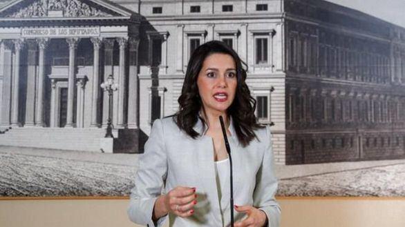 La diputada electa de Ciudadanos Inés Arrimadas en el Congreso.