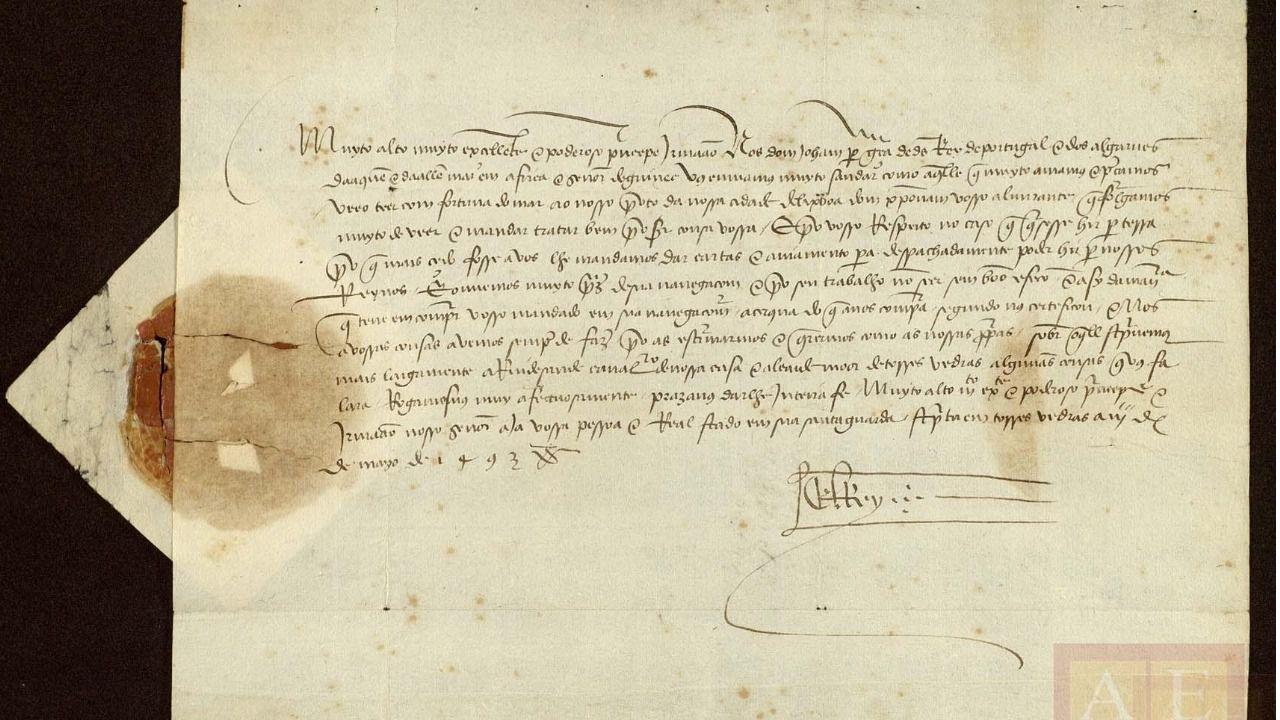 Hallada una carta inédita que informa por primera vez de la vuelta de Colón de América