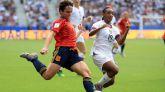 La selección española femenina se enfrentó a Estados Unidos en octavos de final.