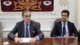 El decano del ICAM, José María Alonso, y el diputado de la Junta de Gobierno Juan Gonzalo Ospina.