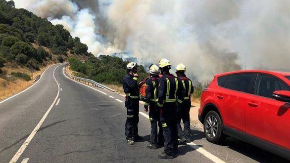 El incendio de Toledo y Madrid está