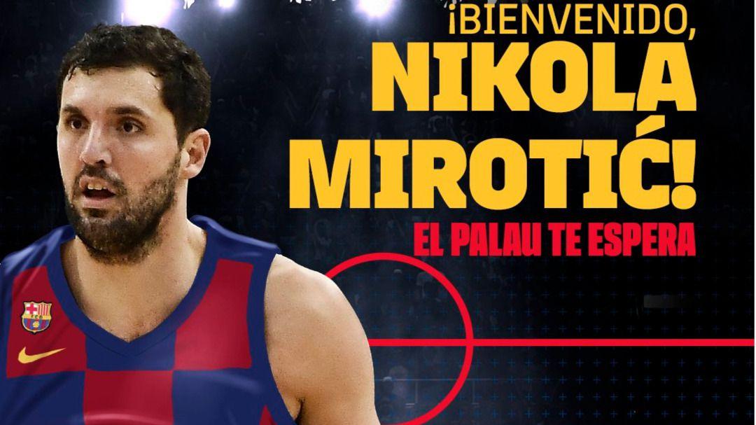 El Barcelona hace oficial el fichaje de Mirotic