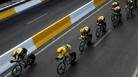 Tour de Francia. El Jumbo, como un avión en la CRE