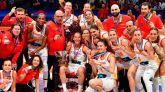 La selección española femenina de baloncesto celebró su vitoria en la final del Eurobasket Femenino.