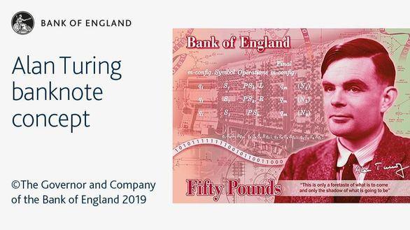 Reino Unido homenajea a Turing en el billete de 50 libras