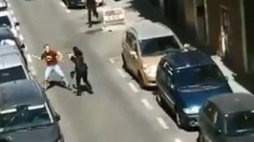 Un hombre recibe un disparo tras amenazar con un cuchillo a la Policía en Madrid
