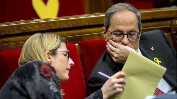 Torra pide a Podemos que no renuncie al referéndum al negociar con el PSOE