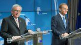 Los presidentes de la Comisión Europea y del Consejo Europeo, Jean-Claude Juncker y Donald Tusk.