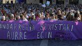 Manifestaciópn en Bilbao contra la agresión sexual grupal del pasado 1 de agosto.