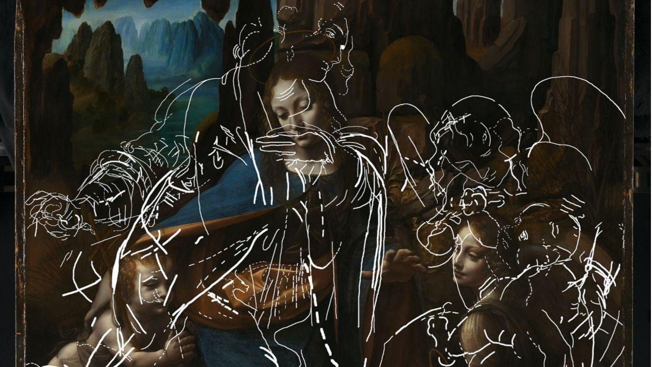 Hallada una composición abandonada por Da Vinci bajo La Virgen de las Rocas