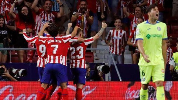 El Atlético de Madrid sobrevive al Getafe y Joao Félix se lesiona | 1-0