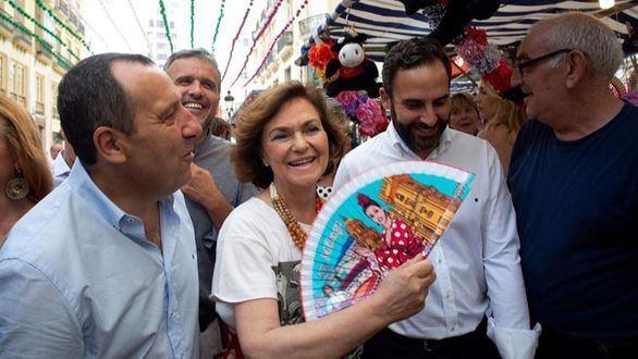 Carmen Calvo este fin de semana durante la Feria de Málaga
