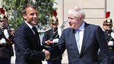 Emmanuel Macron y Boris Johnson.