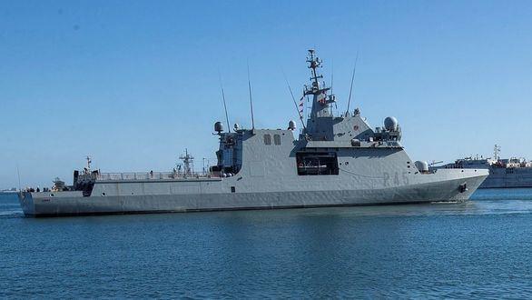 Vista del buque de la Armada española Audaz.