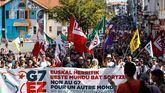 Manifestación autorizada de la Contracumbre del G7.