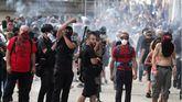 Protestas y actos violentos en Bayona contra la cumbre del G7.