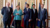 Boris Johnson, Angela Merkel, Emmanuel Macron, Giuseppe Conte y Donald Tusk.