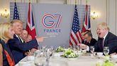 Donald Trump y Boris Johnson en el G7