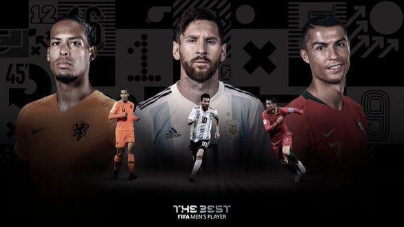 Ronaldo, Messi y Van Dijk, candidatos al premio The Best de la FIFA